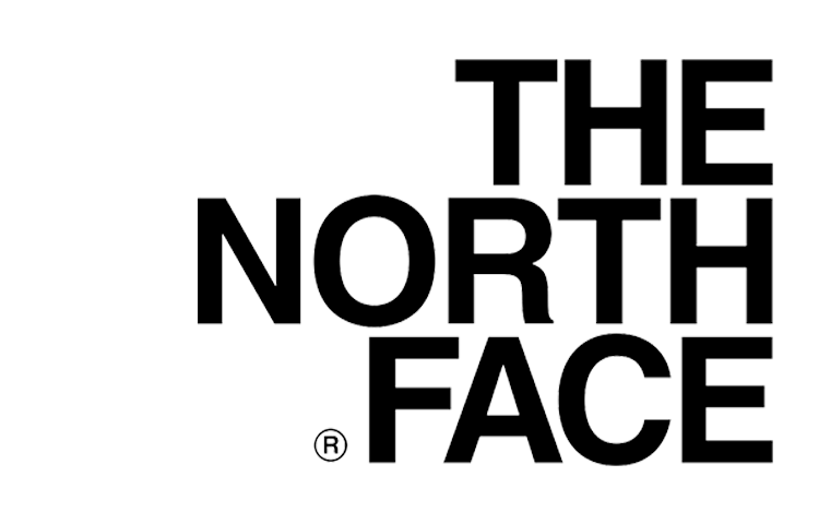 The North Face logo Helvetica Bold